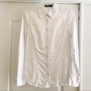 NWOT Basic White Button Down Dress Shirt